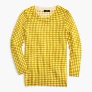 J. Crew Tippi Sweater in Yellow Gingham